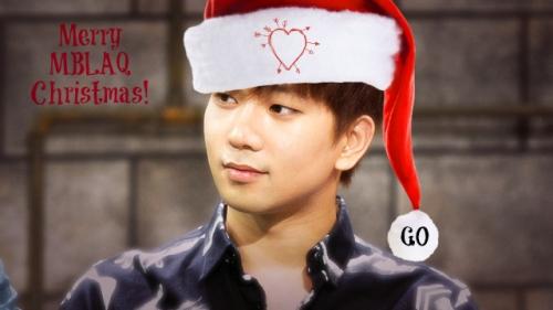 G.O MBLAQ christmas Announcement Blog